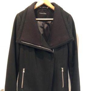 Calvin Klein Black Wool Jacket